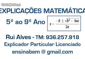 Explicações Matemática até 9º Ano