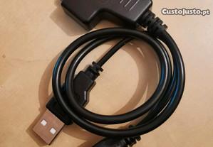 Cabo USB sata para disco rígido