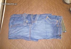 Jeans de Homem Com Bolsos Tamanho 42