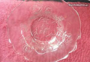Taça em vidro Grande 49 cm. com relevo