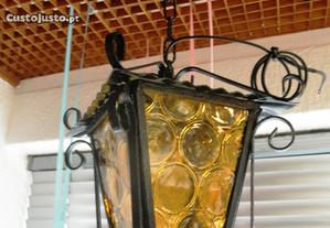 Candeeiro Lanterna Vidros Amarelos