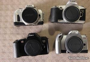 4 corpos Canon EOS - usadas