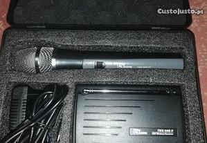 Microfone S/Fio + Receptor Wireless