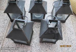 5 lanternas p/vela p/ exterior