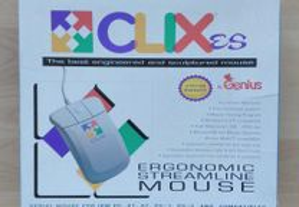 Rato computador Vintage Genius Clix Mouse