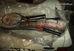 raquete de badminton c/ rede