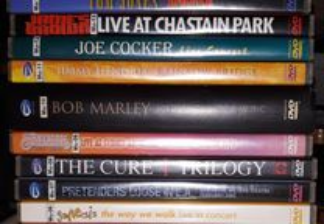 18 DVD's Grupos de música (originais)