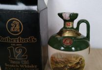 rutherford 12 anos ceramica very old bottle
