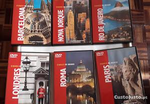 Cidades - 6 DVD's (originais)