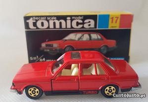 TOMICA Nº17 Nissan Bluebird 910 SSS Turbo com caixa, anos 70