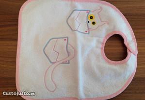 Pack de babete e luva de banho de bebé (da Ruca)