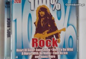 CD 100% Rock (com dois discos)