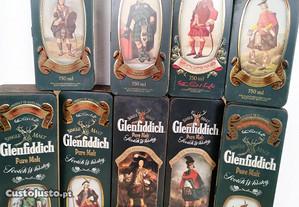 Coleção glenfidich clans (9 garrafas)