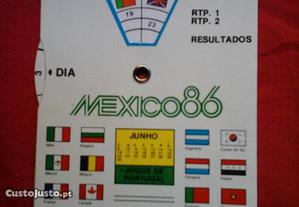 Calendário dos jogos do Mundial México 86, vintage