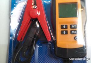 Aparelho teste, verificação condição baterias 12V