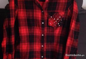 Camisa Vermelha/Xadrez