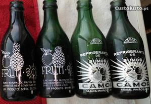 garrafas antigas Frutisol e Camor
