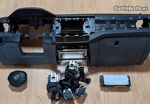Conjunto Kit Airbags Volkswagen VW T-Cross Tablier