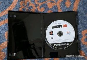 Rugby 08 PS2 em bom estado