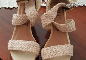 Sandalias de cunha