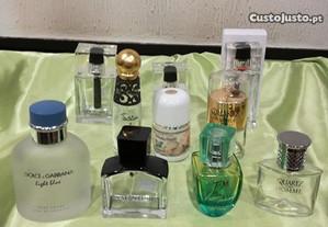 Lote de 10 Frascos de Perfume Vazios P/ Coleção