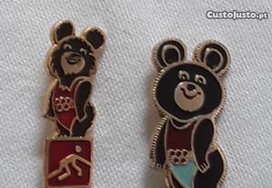 2 Pin Misha dos Jogos Olímpicos de Moscovo 1980