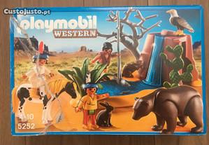 Playmobil Western 5252 Crianças Índios com Animais