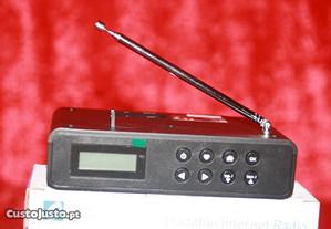 Digital Portátil Da Internet Wi-fi Alto-falante com Bluetooth, Rádio Fm Bateria Recarregável
