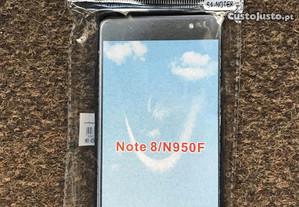 Capa de silicone preta para Samsung Galaxy Note 8