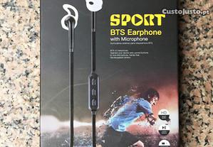 Auriculares bluetooth Sport c/ microfone integrado
