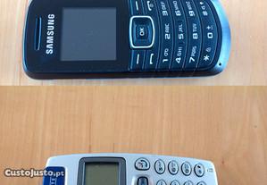 Telemóveis Samsung E1080T+Alcatel OT511 c/portes