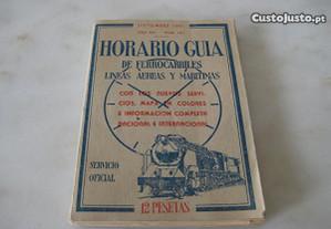 Horário Líneas Aereas e marítimas-Antiguidade 1951