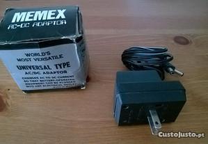 A/C Adaptador Memex MU-400 para 3, 6, 9 e 12 V