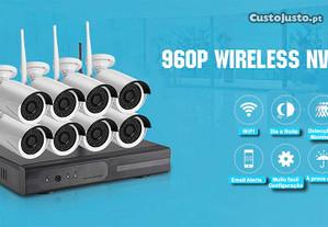kit 8 cameras HD wi-fi sem fios wireless video IP