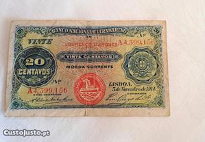 20 Centavos 1914 Moçambique