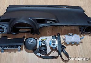 Conjunto Kit Airbags Toyota Yaris Tablier Original