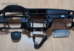 Conjunto Kit Airbags BMW Série 5 F10 F11 Tablier