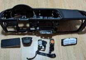 Conjunto Kit Airbags Seat Leon 3 Tablier Original Completo