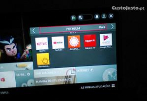Smart TV LED 42 LG Leitor de DVD e Blu Ray Samsung
