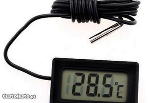 Medidor de temperatura com sensor - Preto