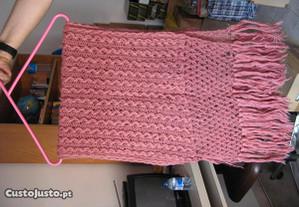 Cachecol de lã em crochet