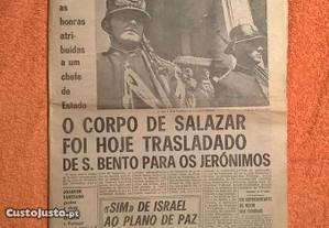 Diário Popular 28 Julho de 1970 - Morte de Salazar