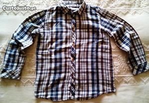 Camisa clássica 7/8 anos flanela fina