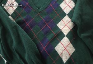 Camisola pura lã virgem (tamanho M)