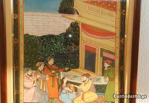 Quadro Pintura na seda, India, meados sec,xx,