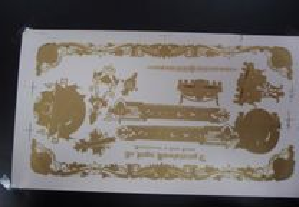 Decalque dourado maquina costura antiga Singer