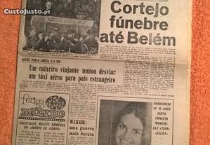 Diário de Lisboa 28 Julho 1970 - Morte de Salazar