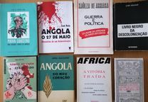 Livros Angola/Moçambique/Guiné (diversos preços)