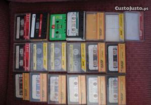 Cassetes áudio para aproveitamento exterior