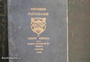 Prouesses Portugaises et Carnet Médical. 1906.